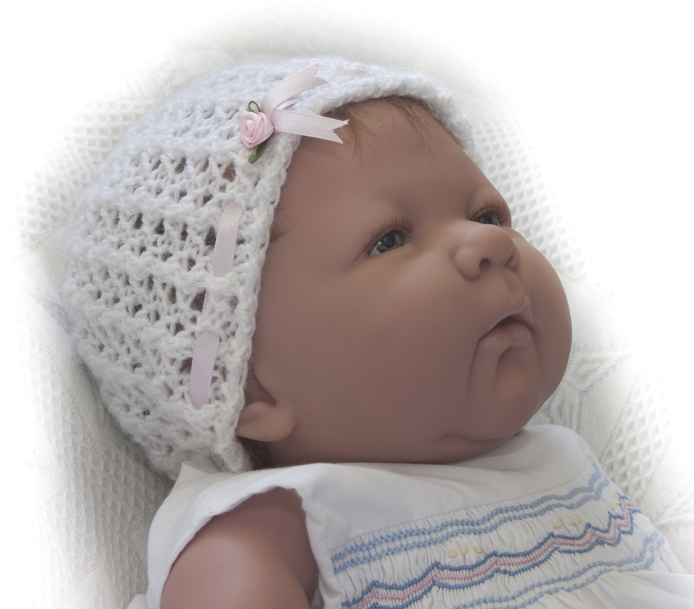 Knitting Pattern Dolls Hat : Babys Hat Reborn Doll Babies Knitting Pattern #0902